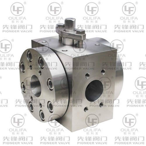 High Pressure 3-Way Ball Valve Q44PEEK-3000PSI